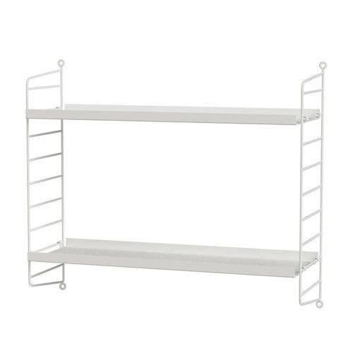 メタルシェルフ+ウォールパネル W60×D20×H50cm (String Bundles bed room / ..by String Furniture)