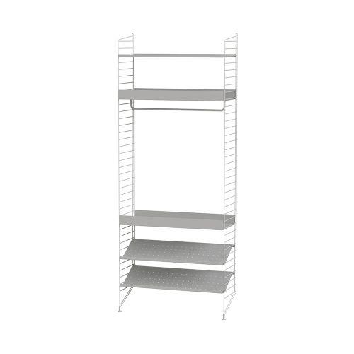 メタルシェルフ+フロアパネル W80×D30×H200cm (String Bundles bed room / ..by String Furniture)