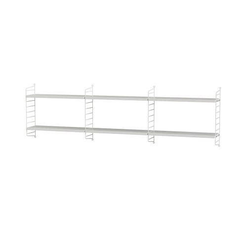 シェルフ+ウォールパネル W180×D20×H50cm / MDF (String Bundles bed room / ..by String Furniture)