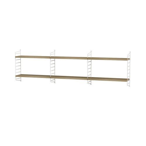 シェルフ+ウォールパネル W180×D20×H50cm / ウッド (String Bundles bed room / ..by String Furniture)