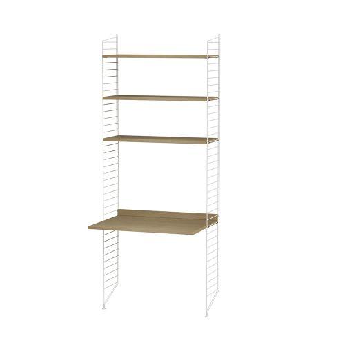 デスク+シェルフ  W80×D60×H200cm / ウッド (String Bundles kids room / Work Space / ..by String Furniture)