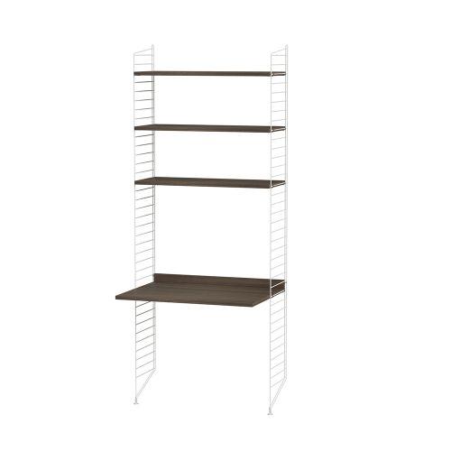 デスク+シェルフ W80×D60×H200cm / ウォルナット (String Bundles kid room / Work Space / ..by String Furniture)