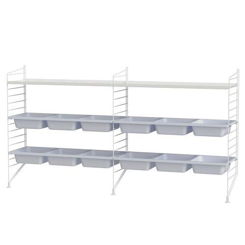 ボウルシェルフ+フロアパネル W180×D30×H85cm (String Bundles kids room / ..by String Furniture)