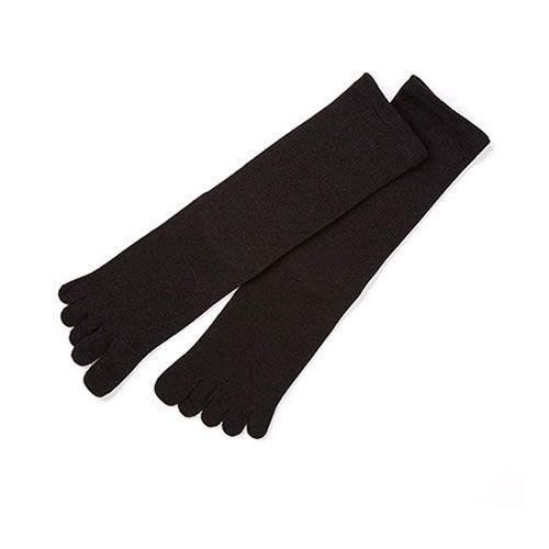 【在庫限り】メンズ5本指靴下 / ブラック WSK-01-36 (ささ和紙 / sasawashi)