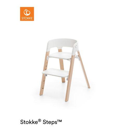ストッケ ステップス チェア ホワイト × ビーチ ナチュラル (Steps・Stokke / ストッケ)