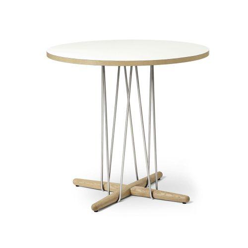 E020 エンブレイステーブル φ79.5cm ホワイト / オーク材 ホワイトオイルフィニッシュ (Carl Hansen & Son / カールハンセン&サン)