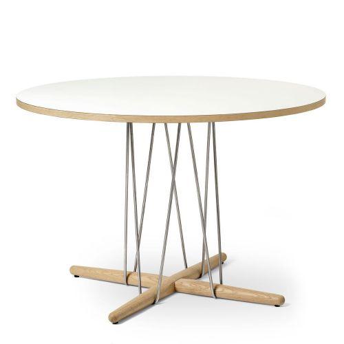 E020 エンブレイステーブル φ110cm ホワイト / オーク材 ホワイトオイルフィニッシュ (Carl Hansen & Son / カールハンセン&サン)