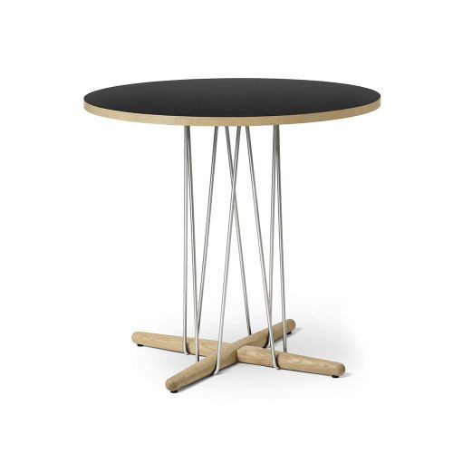 E020 エンブレイステーブル φ79.5cm ブラック / オーク材 ホワイトオイルフィニッシュ (Carl Hansen & Son / カールハンセン&サン)