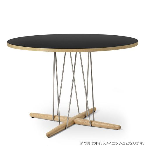 E020 エンブレイステーブル φ110cm ブラック / オーク材 ラッカー塗装 (Carl Hansen & Son / カールハンセン&サン)