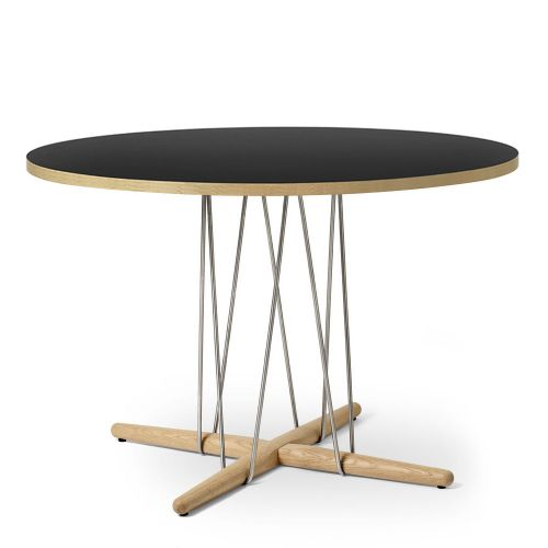 E020 エンブレイステーブル φ110cm ブラック / オーク材 オイルフィニッシュ (Carl Hansen & Son / カールハンセン&サン)