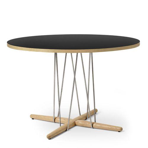 E020 エンブレイステーブル φ110cm ブラック / オーク材 ホワイトオイルフィニッシュ (Carl Hansen & Son / カールハンセン&サン)