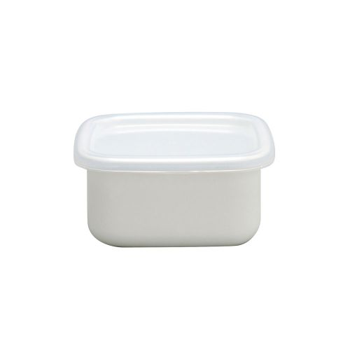 野田琺瑯 スクエア保存容器S (ホワイトシリーズ)