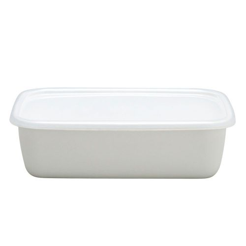 野田琺瑯 レクタングル深型L (ホワイトシリーズ)