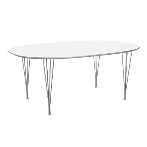 スーパー楕円テーブル / B613 ホワイト W180×D120cm (Fritz Hansen / フリッツ・ハンセン)