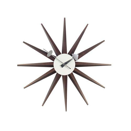 サンバーストクロック ウォールナット / Sunburst Clock (vitra ヴィトラ)