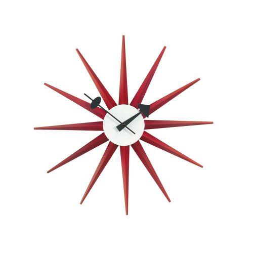 サンバーストクロック レッド / Sunburst Clock (vitra ヴィトラ)