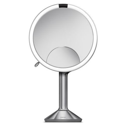 センサーミラー トリオ / シルバー ST3024 拡大鏡1倍・5倍・10倍 (Simplehuman / シンプルヒューマン)