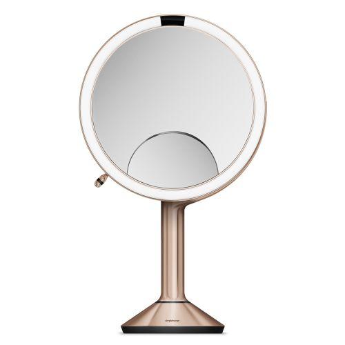 センサーミラー トリオ / ローズゴールド ST3034 拡大鏡1倍・5倍・10倍 (Simplehuman / シンプルヒューマン)