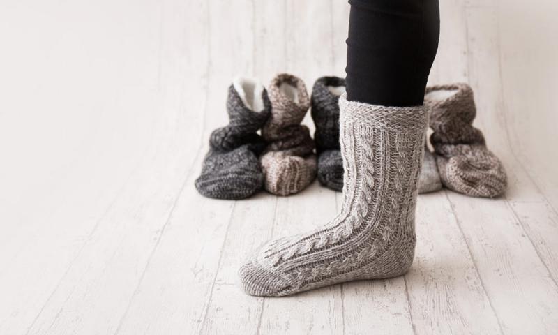 靴下タイプの秋冬ルームソックス
