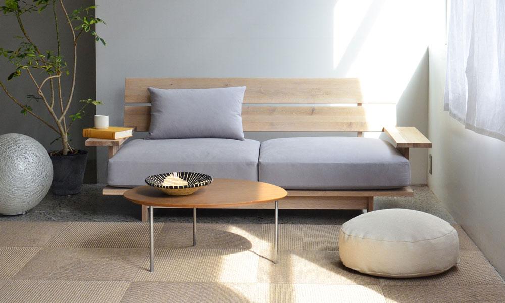 ミズナラの森をお部屋にも。ナチュラルで心地の良いソファ。