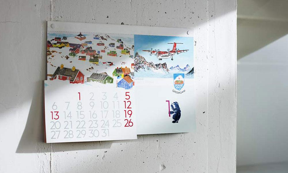 ユニークで遊び心ある楽しいカレンダー。